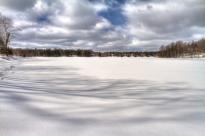 Lac gelé, Cantons-de-l'Est.