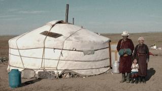 Chez les nomades, pastiche du procédé autochrome.