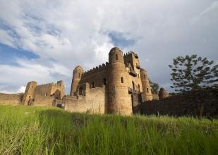 Ancienne cité royale de Gondar, nord de l'Éthiopie.