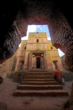 Église rupestre de Saint-Georges, Lalibela, nord de l'Éthiopie.