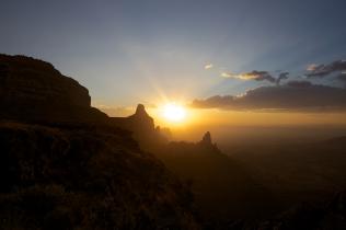 Parc national du Simien, nord de l'Éthiopie.