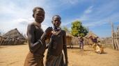 Jeunes karo, Vallée de l'Omo, sud de l'Éthiopie.
